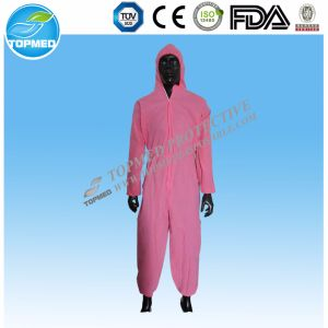 Waterproof Coveralls Protective Clothing PP PE Disposable Plastic Coveralls pictures & photos