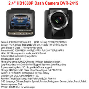 "Factory Hot Sale 2.4"" Car Black Box Digital Video Recorder Built in H264. MOV Car DVR Chipset, 5.0mega Car Dash Camera, Mobile DVR-2413 pictures & photos"