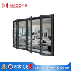 Australia Standard European Style Aluminum Tempered Glass Folding Door pictures & photos