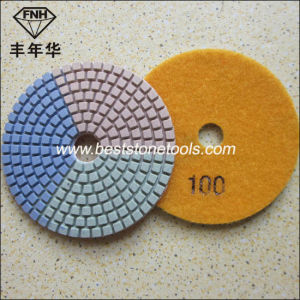 Diamond Flexible Wet Polishing Pads with 3 Colours pictures & photos