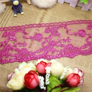 Stock Wholesale 9.5cm Width Embroidery Nylon Net Lace Polyester Embroidery Trimming Fancy Lace for Garments Accessory & Home Textiles & Curtains pictures & photos
