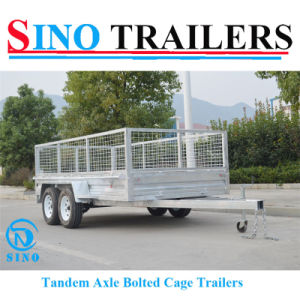 12*6 Tandem Bolted Twin Axle Box Cage Trailers pictures & photos