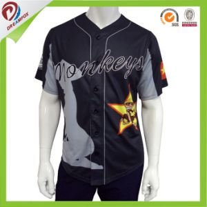 Dry Fit Breathable Cheap Wholesale Custom Sublimated Baseball Shirt pictures & photos