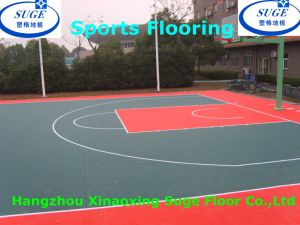Soft and Beautiful Outdoor Interlocking Sports Flooring for Basketball pictures & photos