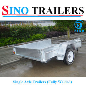 Fully Welded Solid Axle Single Axle Trailers pictures & photos