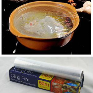 Hot Sale Multi Size Food Cover Silicone Cling Film on Jumbo Roll pictures & photos