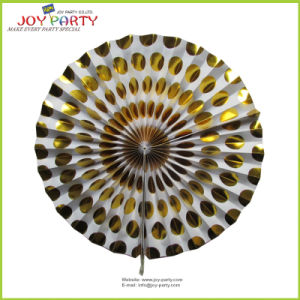 """16"""" Gold Hanging Honeycomb Fans"""