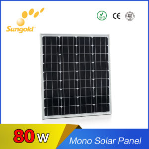 2017 New Proudct 80W Mono Solar Panel for Hot Sale