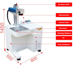 20W 30W 50W Fiber Laser Marking Machine pictures & photos