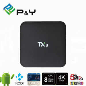 OEM/ODM Factory Price Android 5.1 Tx3 S905 1g 8g Android TV Box Quad Core Set Top Box Media Player Smart TV pictures & photos