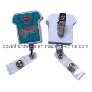 T-Shirt Rectractable Badge Holder with Reel pictures & photos