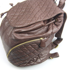 Ladies Washed PU Backpack Casual Leisure Backpack pictures & photos