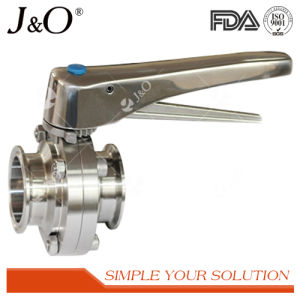 Sanitary Weld Male Butterfly Valve with Ss Handle pictures & photos