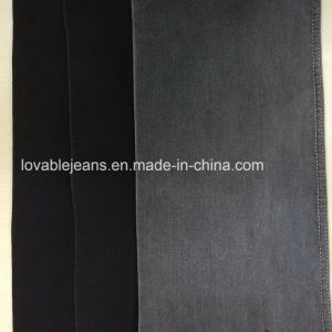 11oz Stretchy Polyester Denim Fabric (WW110) pictures & photos