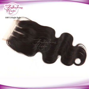 Original Burma Body Wave Remy Weave Swiss Lace Closures Hair pictures & photos