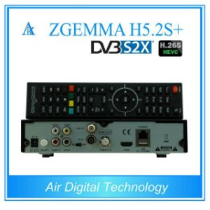 Official Hardwares&Softwares Zgemma H5.2s Plus Multi-Stream Combo Receiver Hevc/H. 265 DVB-S2+DVB-S2/S2X/T2/C Triple Tuners Linux OS Set Top Box pictures & photos