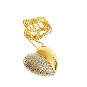 Diamond Heart Jewellry Flash Stick Memory 2GB USB Pendrive Keychain pictures & photos