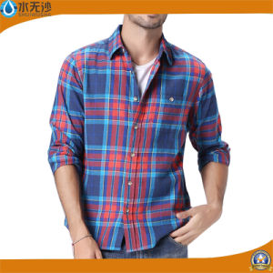 Men Fashion Plaid Shirt Cotton Casual 2017 Factory Spring Shirt pictures & photos