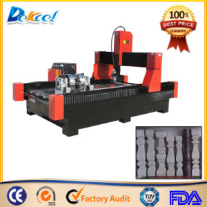 CNC Granite Stone Engraver Router Machine with Rotary Device pictures & photos