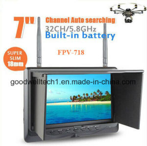 32 CH AV Receiver 7′′ LCD Fpv Battery Powered HDMI Monitor pictures & photos