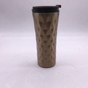 450ml Starbark Double Wall Stainless Steel Coffee Mug with PP Lid (SH-SC57) pictures & photos
