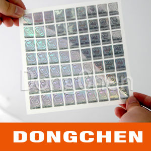Silver Void 3D Hologram Stickers, Void Security Hologram Seals pictures & photos