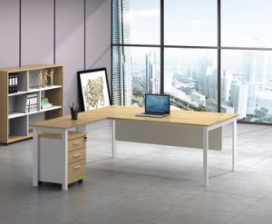 White Customized Metal Steel Office Executive Table Frame Ht87-2 pictures & photos