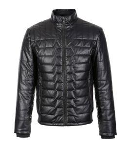 Black Casual Pakistan Men Leather Jacket pictures & photos