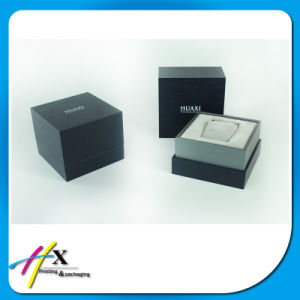 Custom Square 2 Piece Lid and Base Wooden Watch Box pictures & photos
