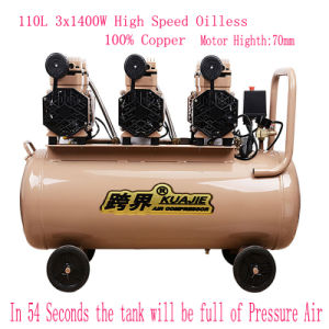 3X1400W Portable Silent Oil Free High Pressure Screw Air Compressor pictures & photos