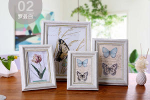 Carr Photo Picture Frames - Ceramic Round Floral pictures & photos