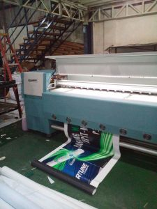 Solvent Printer Digital Printing Machine Infiniti/Challenger Fy-32712y with High Printing Speed 282sqr/H (with 12PCS Seiko printheads) pictures & photos