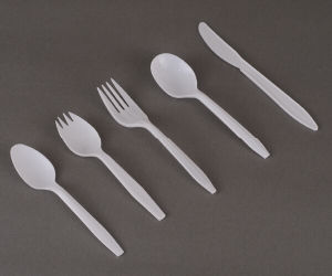 PP 3G Spork Popular Plastic Disposable Cutlery Set pictures & photos
