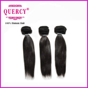 Top Virgin Hair Indian Remy Machine Weft Kinky Straight Human Hair pictures & photos