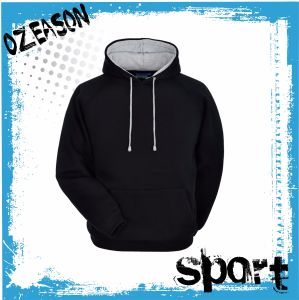 Free Design Wholesale High Quality Plain Custom Printing Black Hoodie pictures & photos