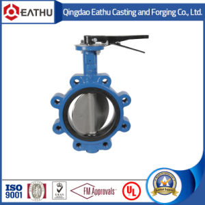 ASTM A216 Wcb Body, Ss316 Disc, PTFE Seat, 150lbs Lug Butterfly Valve pictures & photos