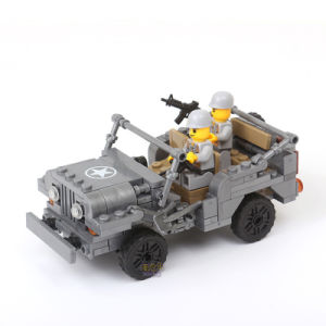 14882007-199PCS Playmobile Century Military Us Willys MB Jeep Airborne Force Building Blocks Ww2 Classic Military Vehicle pictures & photos