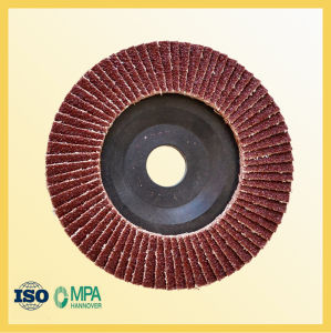 100mm Aluminum Oxide Flap Wheel with Plastic Backing pictures & photos