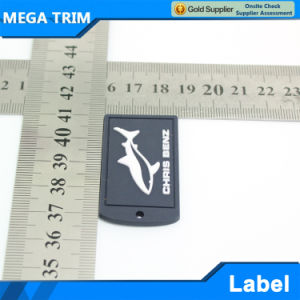 High Quality Square Shaped PVC Garment Label pictures & photos