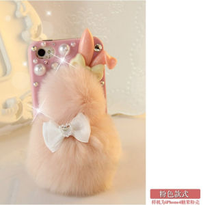 New! ! ! / Bling Luxury Warm Soft Rex Rabbit Fur/Hair Protective Case/Skin/Back Cover Case for iPhone 5 5s 4 pictures & photos