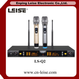 Ls-Q2 Karaoke Microphone Double Channels UHF Wireless Microphone