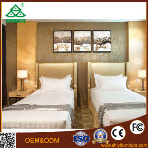 Solid Wood with Panel Wood Hotel Bed Room Furniture Bedroom Set of Twin Bedroom pictures & photos