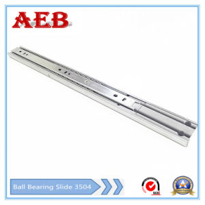 2017 Furniture Customized Cold Rolled Steel Three Knots Linear for 35mm Full Extension Soft-Closing Drawer Slide pictures & photos