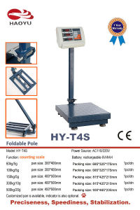 Foldable Pole Counting Platform Scale pictures & photos