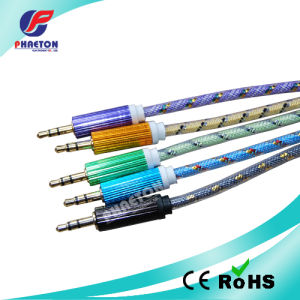 Transparent 3.5mm Stereo Audio Data Cable pictures & photos