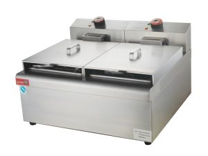 Electric Chip Fryer with 2-Tank 2-Basket for Frying Food Machine pictures & photos