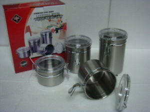 Stainless Steel Canister with Different Sizes pictures & photos
