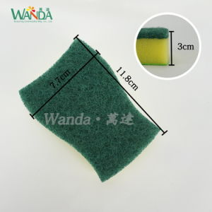 High-Performance Cleaning Product Sponge Scrubber Sponge Scourer with Non-Woven Cloth pictures & photos