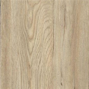 100% Virgin Self-Adhesive Brown Wood Look PVC Floor pictures & photos