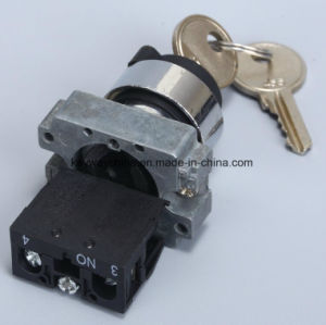 Keylock Metal Type Pushbutton Switch with Key pictures & photos